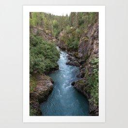 Alaska River Canyon - I Art Print