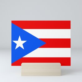 Flag of Puerto Rico Mini Art Print