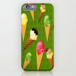Ice cream-Green iPhone Case