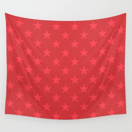 Red stars pattern Wall Tapestry