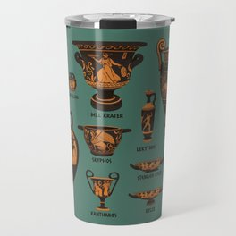 Greek Pottery Travel Mug
