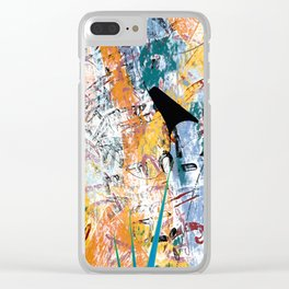 Lassoing Ghosts Clear iPhone Case