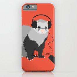 Music Loving Ferret iPhone Case