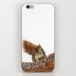 Cheeky the Red Squirrel by Teresa Thompson iPhone Skin
