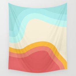 Retro Rainbow Swirls Wall Tapestry