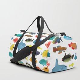 Tropical Fish chart Duffle Bag