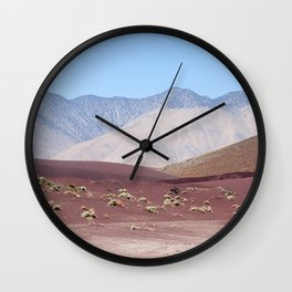 Layers of Earth II (Fossil Falls, California) Wall Clock