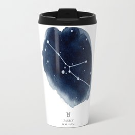 Zodiac Star Constellation - Taurus Travel Mug