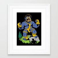 cyclops Framed Art Prints featuring Cyclops by James Kaminski