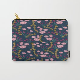 Dark blue pinky pattern Carry-All Pouch