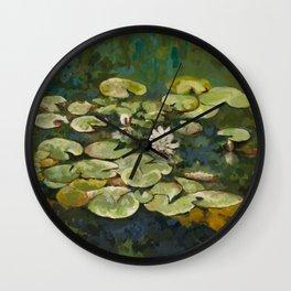 Lotus Pond Serenity Series I Wall Clock