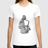 jazz T-shirts featuring jazz  by Zuhal Arslan