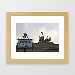 Brandenburger Tor at Pariser Platz Berlin Framed Art Print