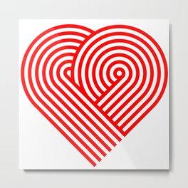 Hugging heart Metal Print