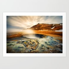 Hverarond - Iceland  (RR137) Art Print