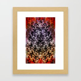 Pyramid of skulls Framed Art Print