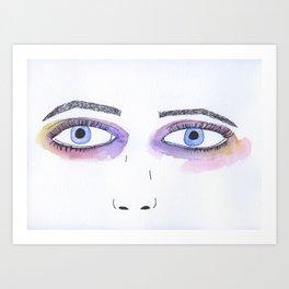 Two Black Eyes Art Print