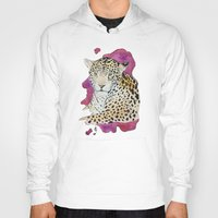 jaguar Hoodies featuring Jaguar by Kyra Kalageorgi