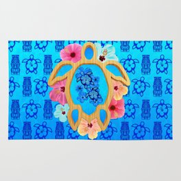 Hawaiian Blue Honu Rug