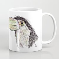 toucan Mugs featuring Toucan by Ursula Rodgers