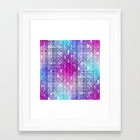grid Framed Art Prints featuring Grid by Christine baessler