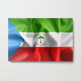 Equatorial Guinea Flag Metal Print