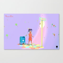 Angryocto - Sara's Candy2 Canvas Print