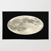 the moon Area & Throw Rugs featuring Moon by  Agostino Lo Coco