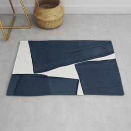 Minimalist Painting Blue III, Mid Century Modern Rug