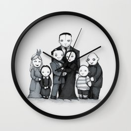 Spooky Plushie Family Wall Clock