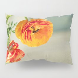 Orange you beautiful Ranculus? Pillow Sham