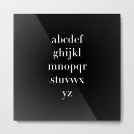 Serif Alphabet Metal Print