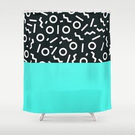 Memphis pattern 48 Shower Curtain
