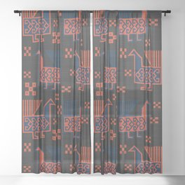 Susa in Charcoal Sheer Curtain