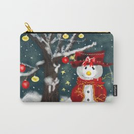 A Happy Snowman Carry-All Pouch