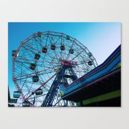 Coney Island (Wonder Wheel) Canvas Print