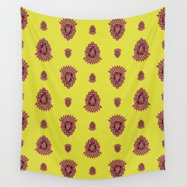 Jewelbox: Ruby Brooch on Citrine Wall Tapestry