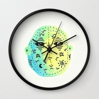 weird Wall Clocks featuring weird  by Alba Blázquez