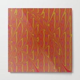 Elegant Rust Abstract Metal Print
