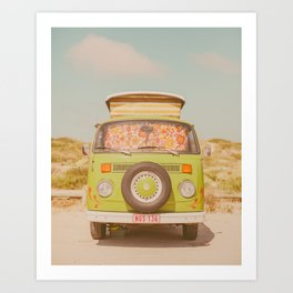 let's ride through europe Art Print