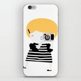The blonde photographer iPhone Skin