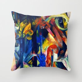 "Franz Marc ""Forest with squirrel"" Throw Pillow"