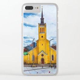 Tallinn art 5 #tallinn #city Clear iPhone Case