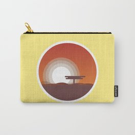 Plain Sunset Carry-All Pouch