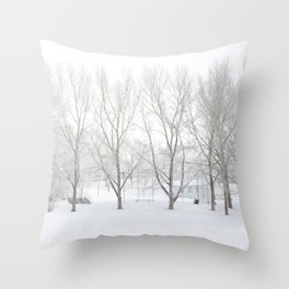 Winter in Confederation Park Throw Pillow