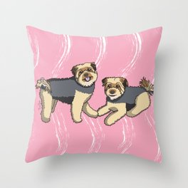 Pip and Maddie Throw Pillow