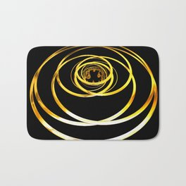 Gold Rings Bath Mat