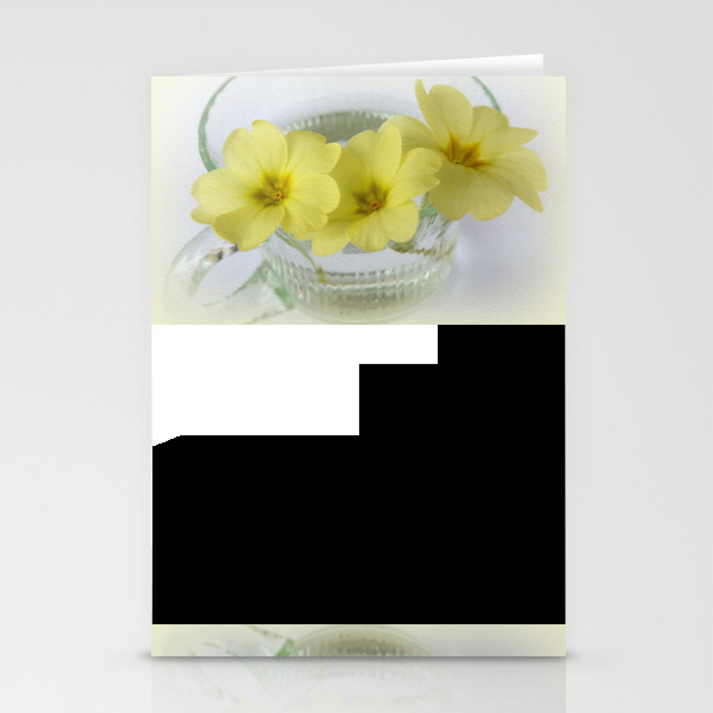 Primrose In A Coffee Cup Stationery Cards by Feiermar CRD8820374