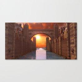Fantasy water city Canvas Print