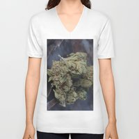 medical V-neck T-shirts featuring Medical Marijuana Deep Sleep by BudProducts.us